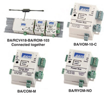 BAPI Wireless System Output Modules BA/COM, BA/ROM, BA/RYOM, BA/RYOL, BA/SOM, BA/VOM